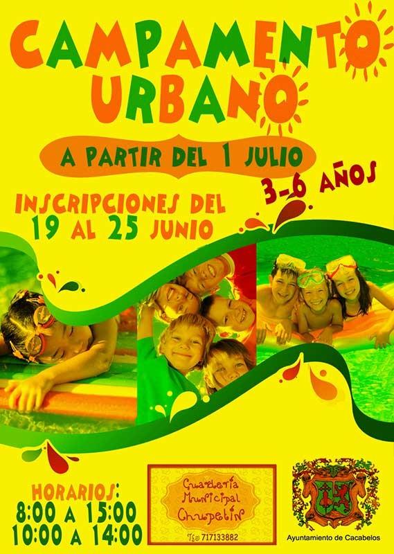 Campamento Urbano en Cacabelos a partir del 1 de julio 2