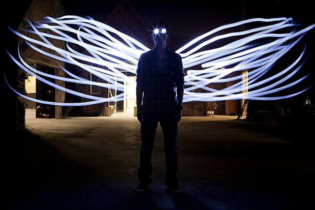 "Pintar con luz ""Light Painting"""