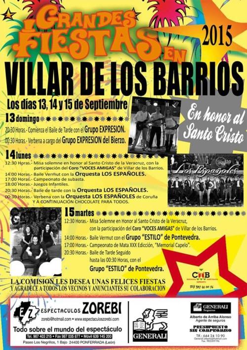 Fiestas en Villar de los Barrios