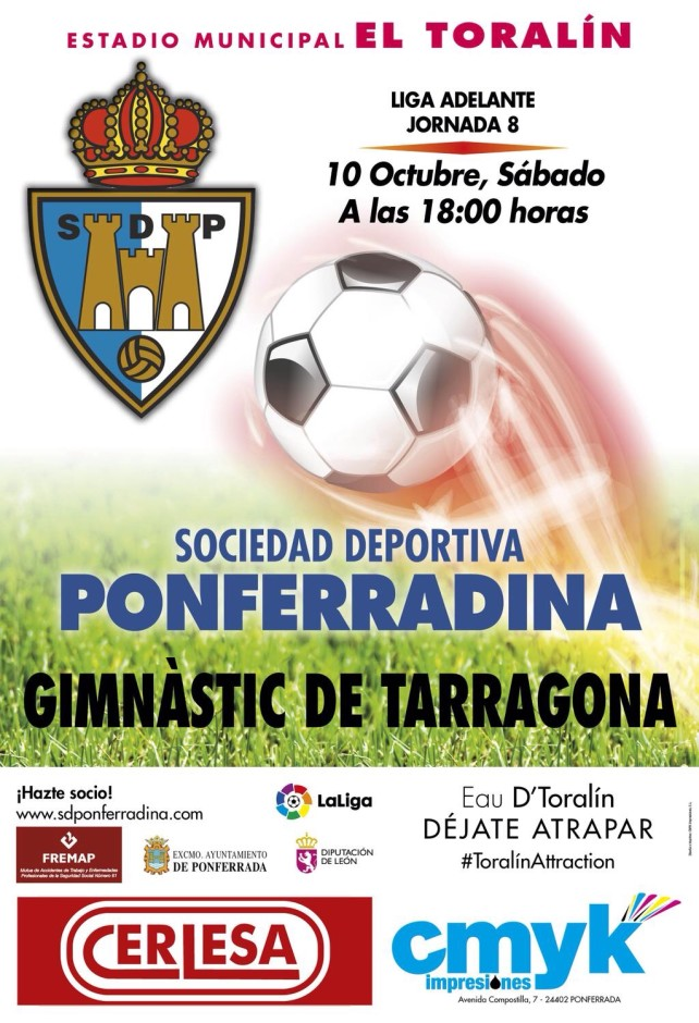 Fútbol: Ponferradina - Gimnastic de Tarragona