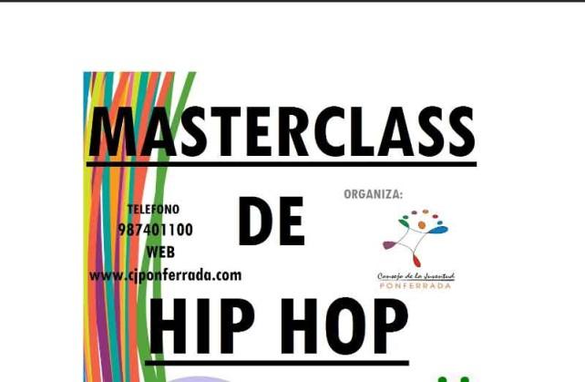 master class de baile Hip hop
