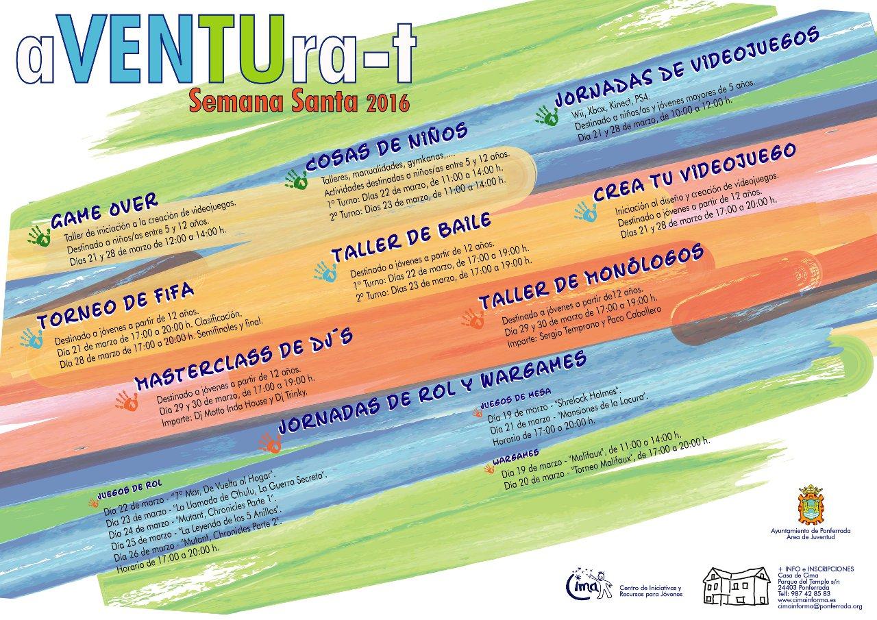 Cartel aventura-t SEMANA SANTA 2016 G