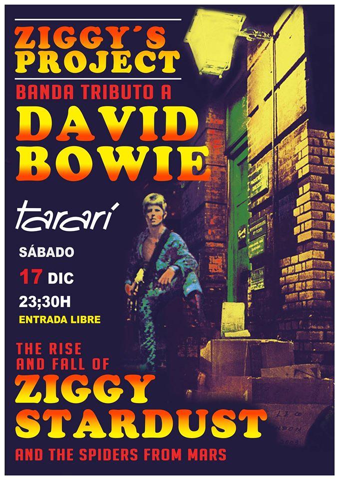 El alma de Bowie sonará el sábado en el Tararí con Ziggy´s Project DAVID BOWIE Tributo 2