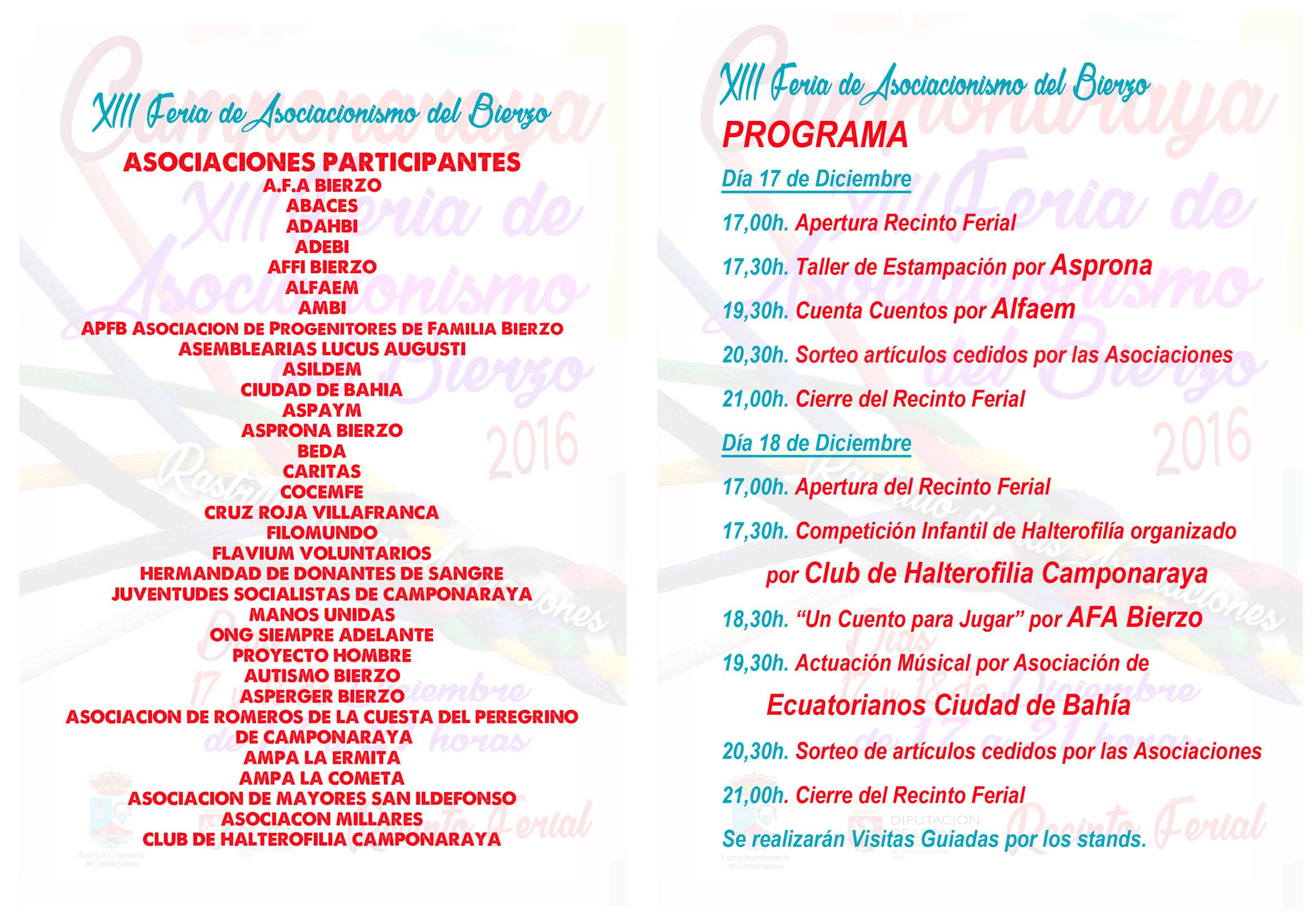XIII Feria del Asociacionismo, este fin de semana en Camponaraya 2