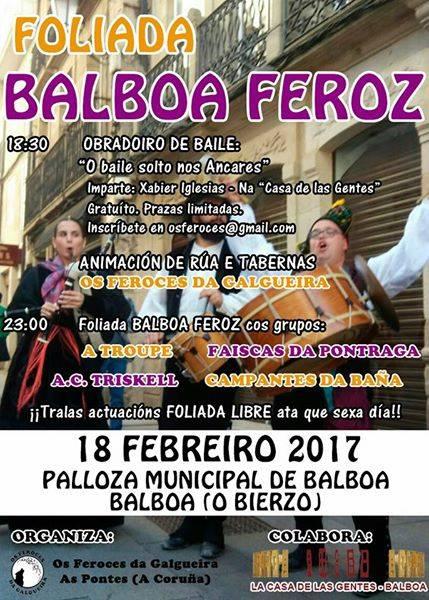 Balboa se llena de música tradicional con la '4ª Foliada Balboa Feroz' 2