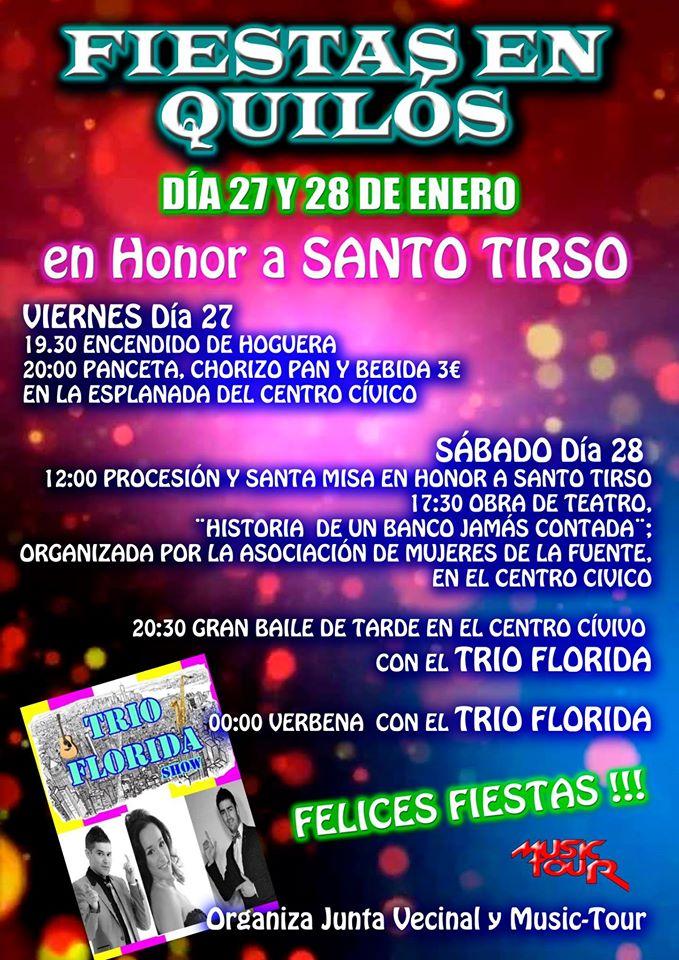 Fiestas en honor a Santo Tirso en Quilós 2