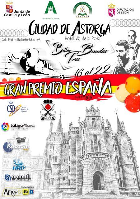 Astorga acoger el Gran Premio Nacional de Billar del 16 al 22 de enero 2