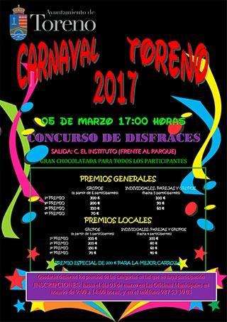 Concurso de disfraces y Carnaval Toreno 2017 2