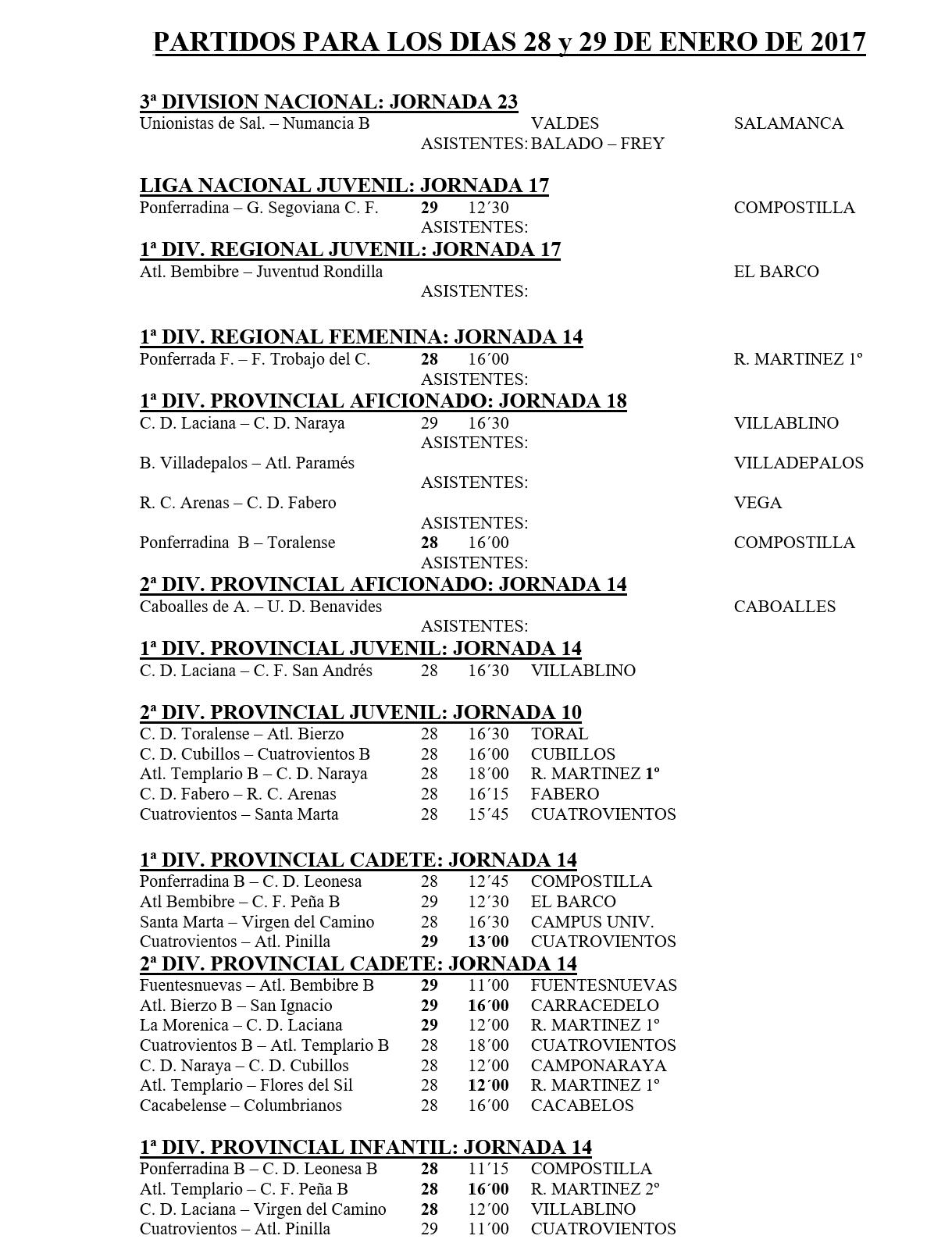 Fútbol base. Partidos 28 y 29 enero 2017 4