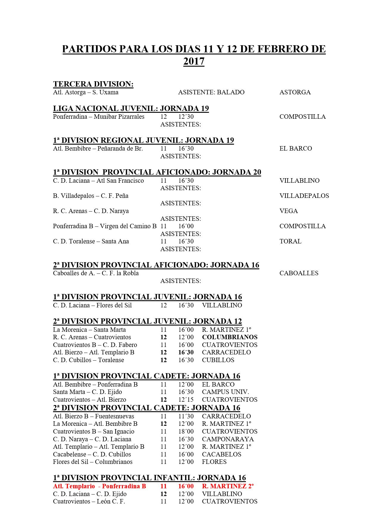 Fútbol base jornada del 11 y 12 de febrero 2
