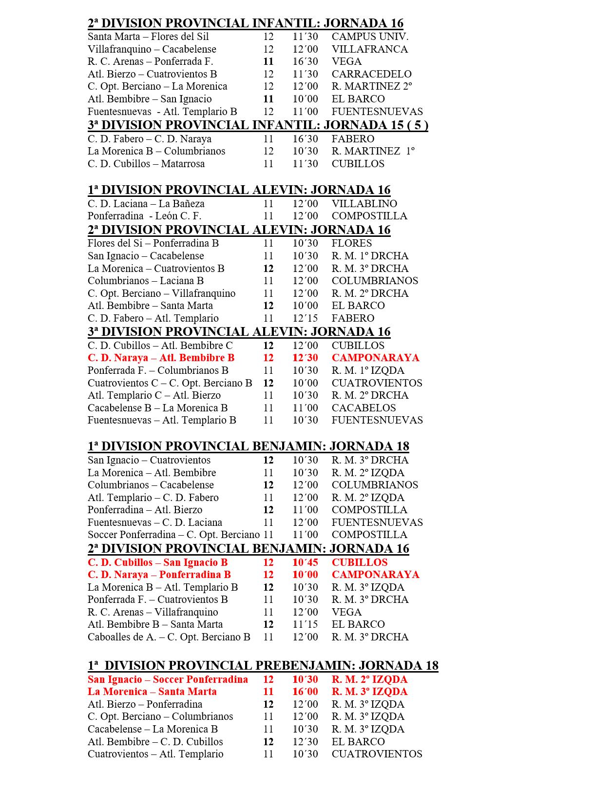 Fútbol base jornada del 11 y 12 de febrero 3