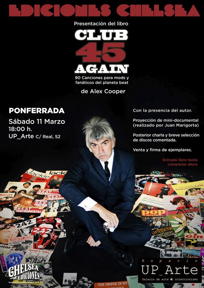 Alex Cooper presenta su libro 'Club 45 Again en la Galería Up_Arte de Ponferrada 2