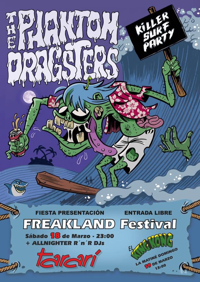 Fiesta presentación del Freakland Festival con Phamton Dragster en Concierto 2