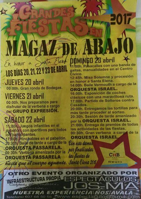 Grandes Fiestas en Magaz de Abajo- Santa Elena 2017 2
