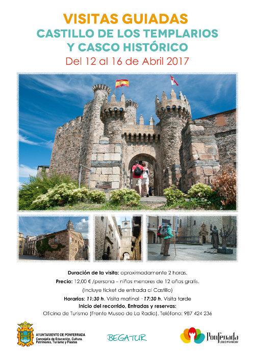 Visitas guiadas Castillo de los Templarios y Casco Histórico. Semana Santa 2017 2