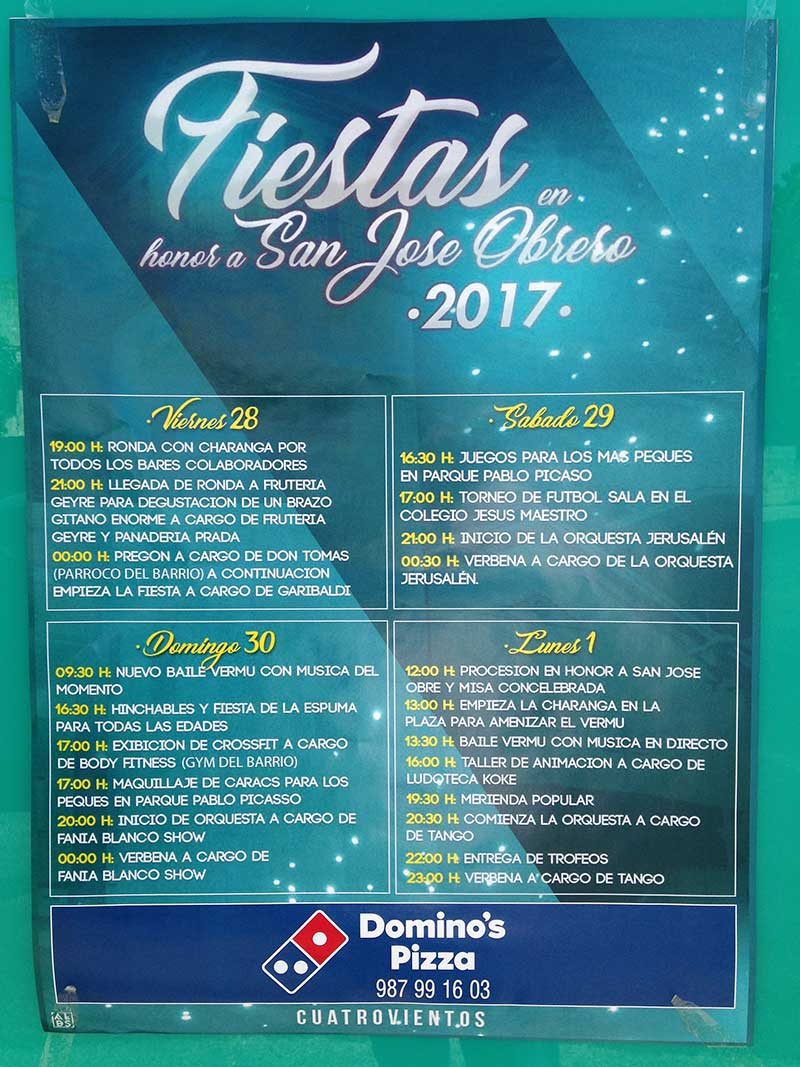 Fiestas cuatrovientos 2017