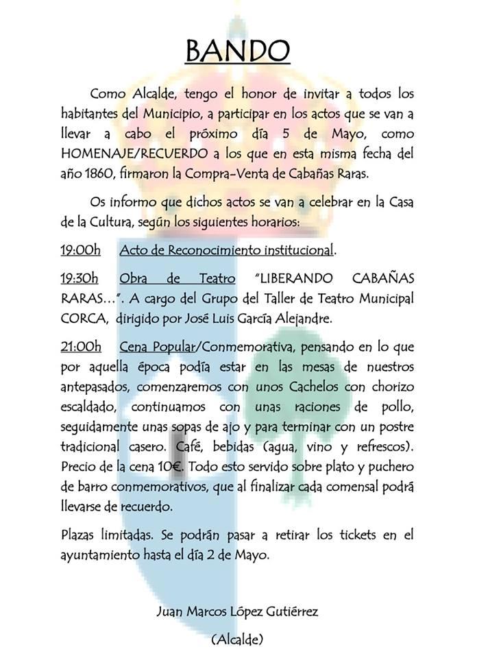 Actos conmemorativos de la liberación de Cabañas Raras 2