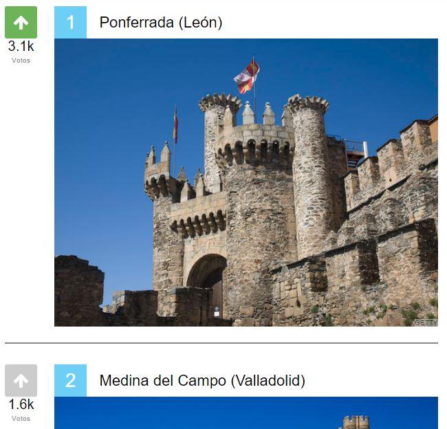 El Castillo de Ponferrada elegido el más bonito de España por los lectores de 'El HuffPost' 2