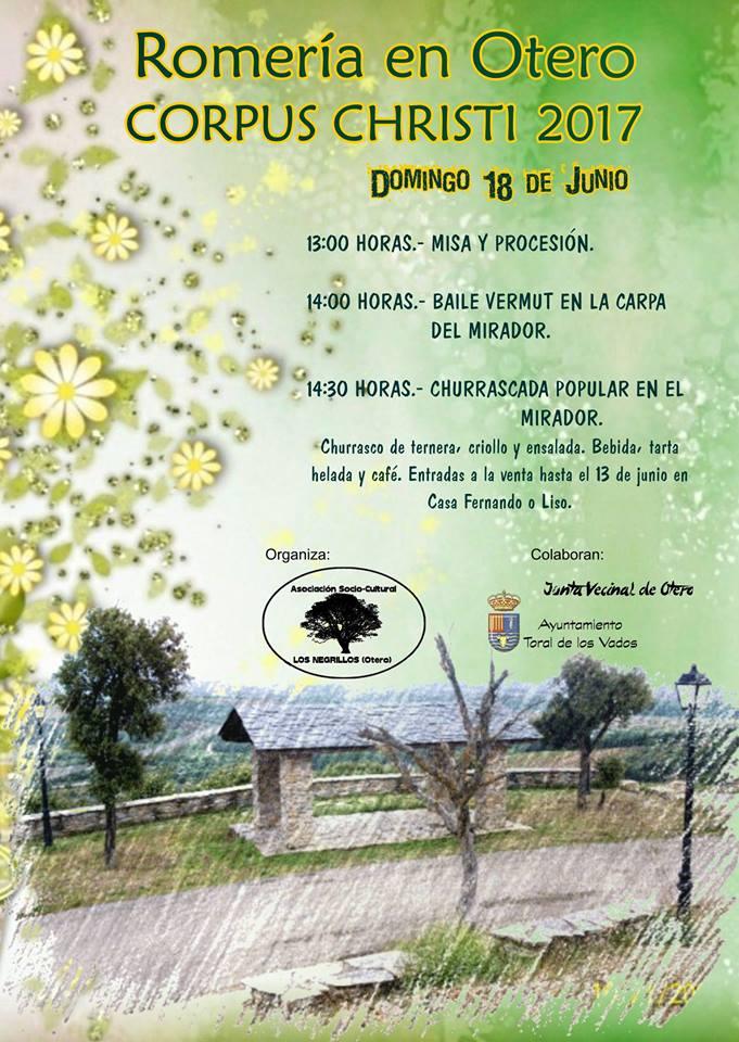 Romería de Corpus Christi 2017 en Otero de Toral de los Vados 2