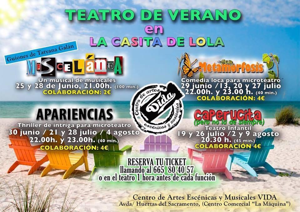 El Centro de Artes Escénicas VIDA organiza funciones de teatro a lo largo del verano 2