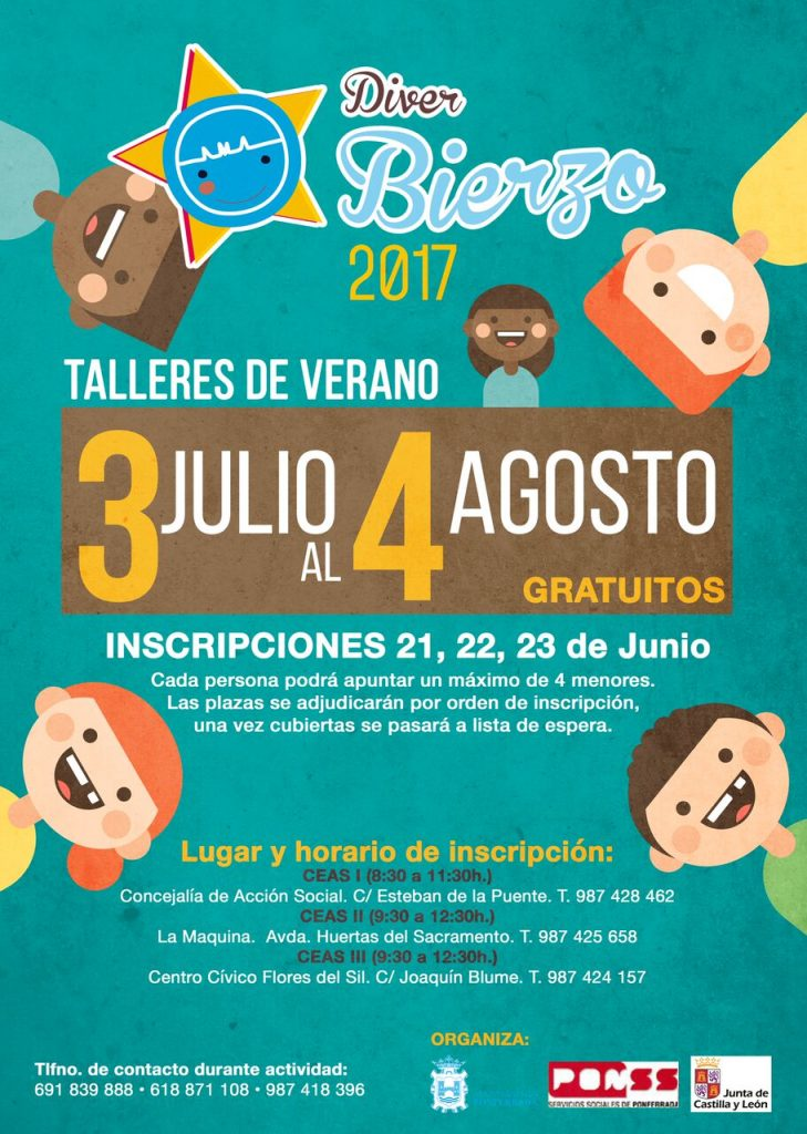 Diver Bierzo: Talleres de verano gratuitos para niños en Ponferrada 2