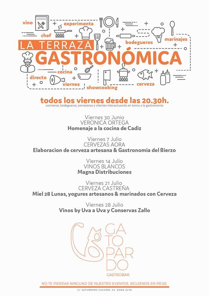 Llega la 'Terraza Gastronómica' un evento culinario para los viernes de verano de la mano del Gatopardo 2