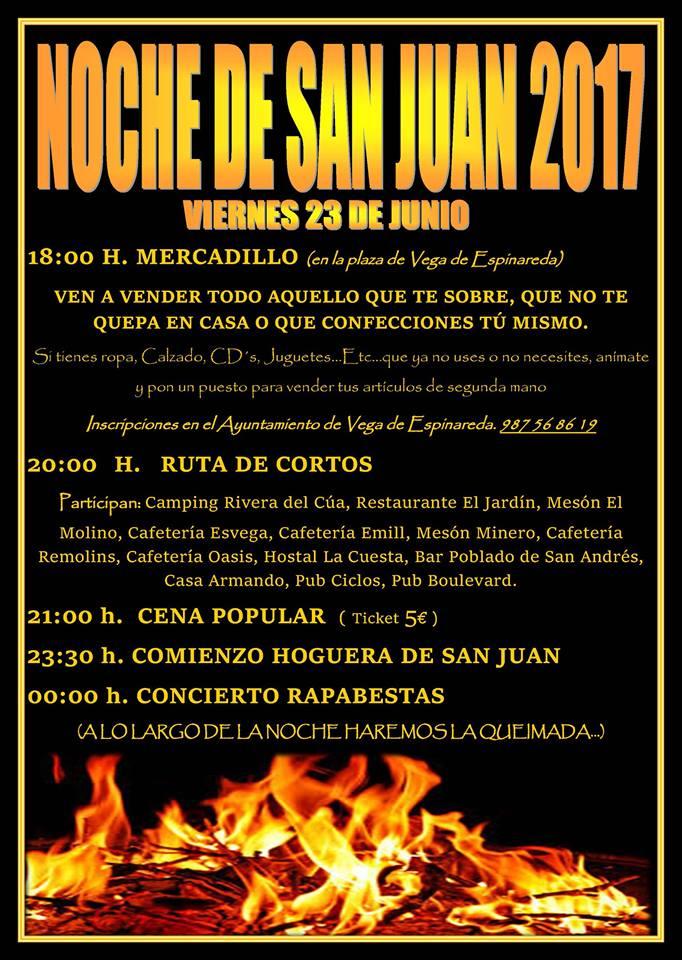 El Bierzo se llena de hogueras para celebrar San Juan 2017 10