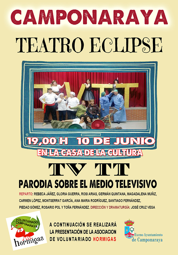 Teatro en Camponaraya: TV TT una parodia sobre la televisión 2