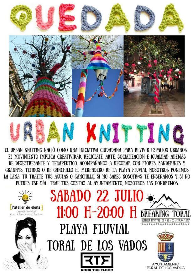 Quedada Urban Knitting en Toral de los Vados 2