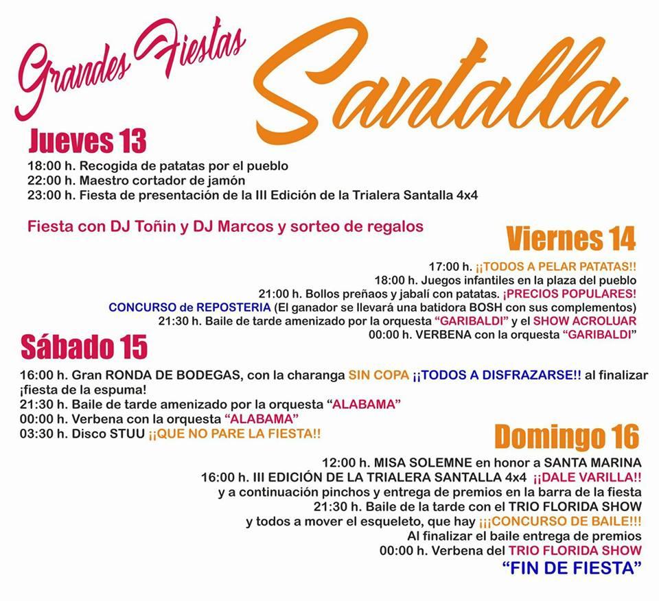 Grandes fiestas en Santalla del Bierzo 2017 en honor a Santa Marina 2