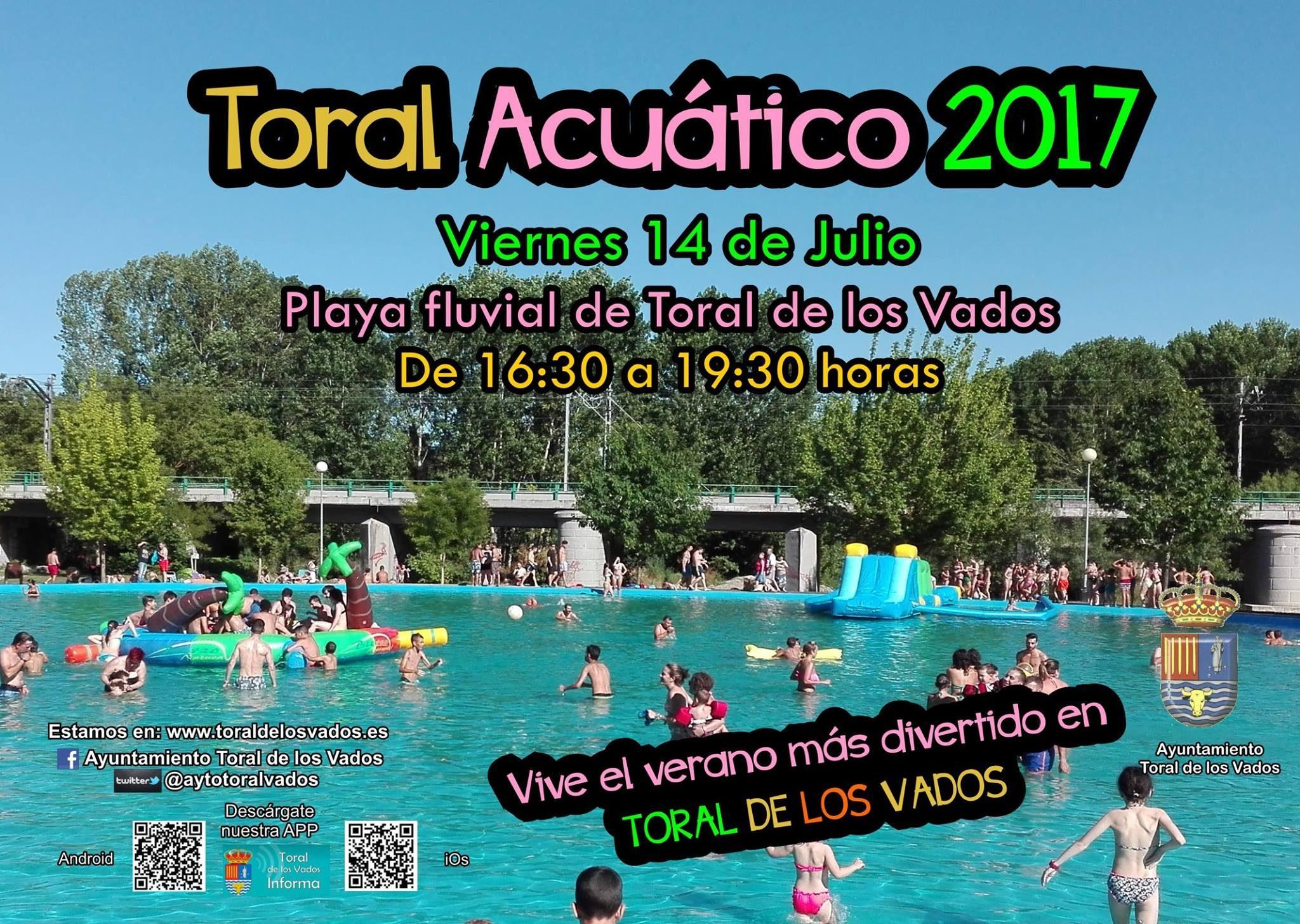 Toral de los Vados organiza el viernes 'Toral Acuático 2017' Diversión para los más pequeños 2