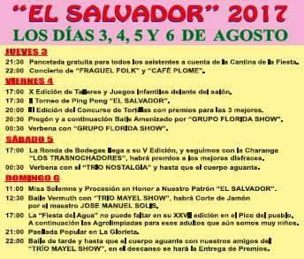 Fiestas del Salvador 2017