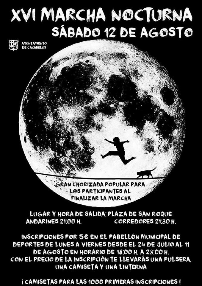 XVI marcha nocturna en Cacabelos