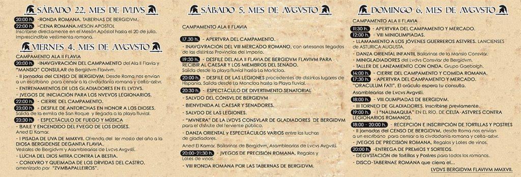 La Ludus Bergidum Flavium reencontrará a los cacabelenses con su pasado romano. 4, 5 y 6 de agosto de 2017 3