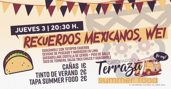 """Summer Food: """"Recuerdos Mexicanos, Wei"""""""