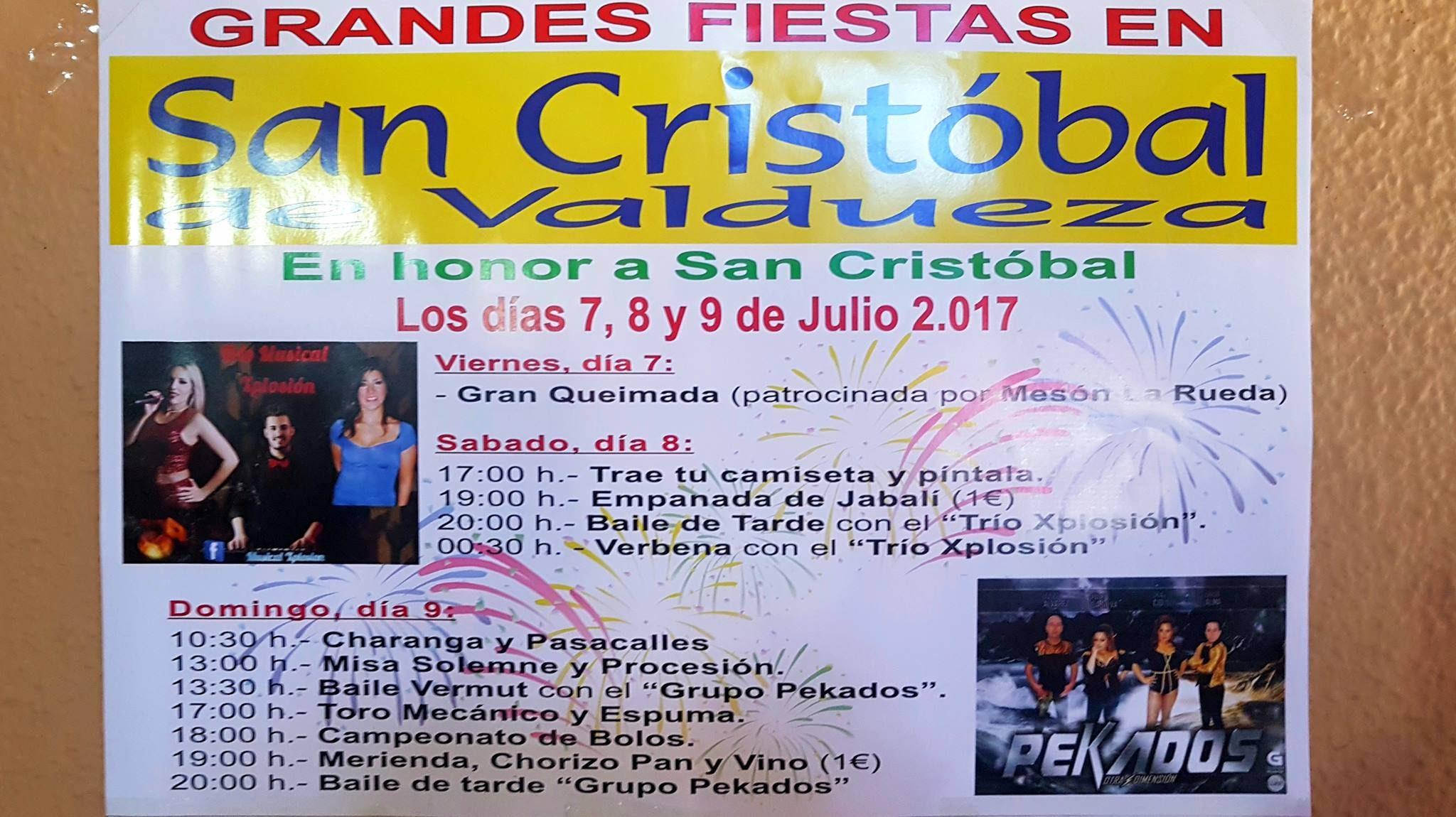 Grandes Fiestas en San Cristobal de Valdueza 2017 2