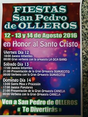 Fiestas en San pedro de Olleros