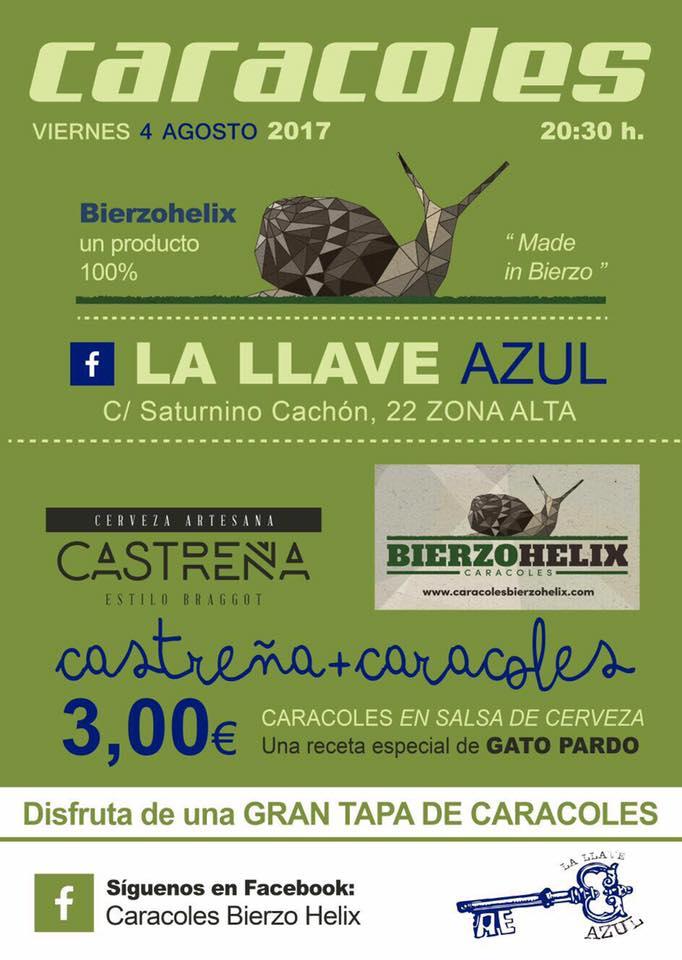Degustación de caracoles y cerveza Castreña