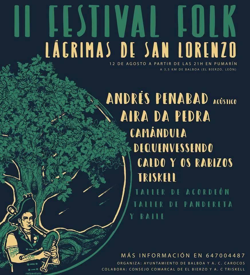 Lágrimas de San Lorenzo a ritmo de buena música en el II Festival Folk de Pumarín 2