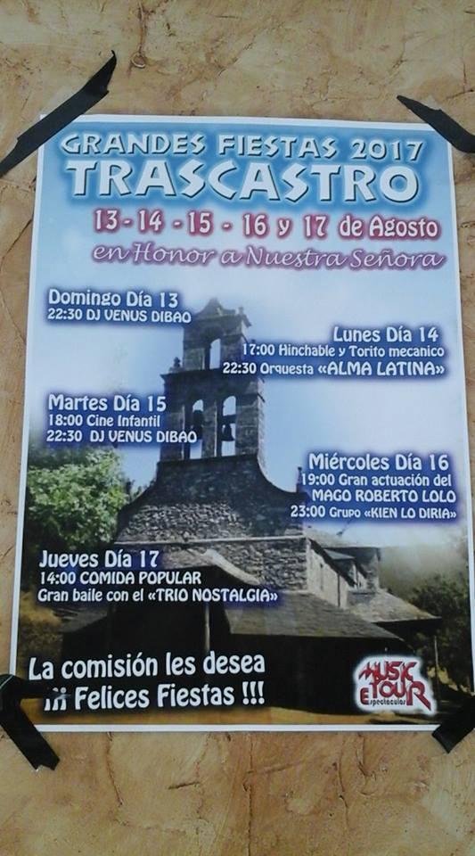 Fiestas en Trascastro. 13, 14, 15, 16 y 17 de agosto 2017 4