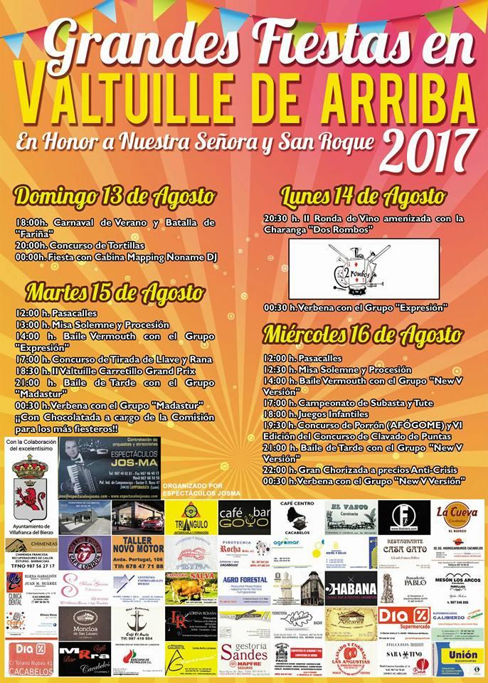 Grandes fiestas en Valtuille de Arriba. 13 al 16 de agosto 2017 2
