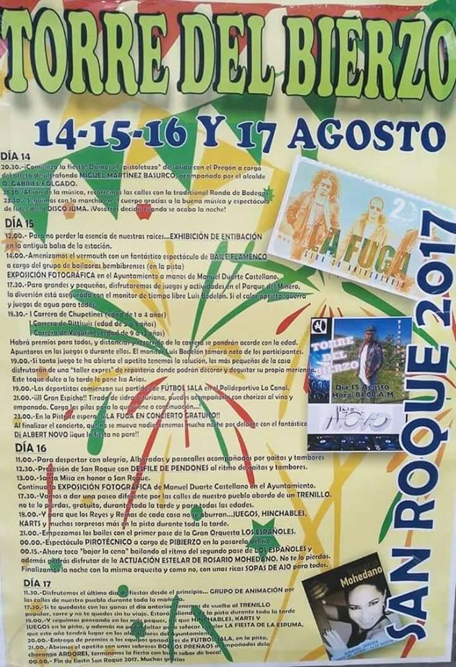 Grandes Fiestas en Torre del Bierzo San Roque 2017