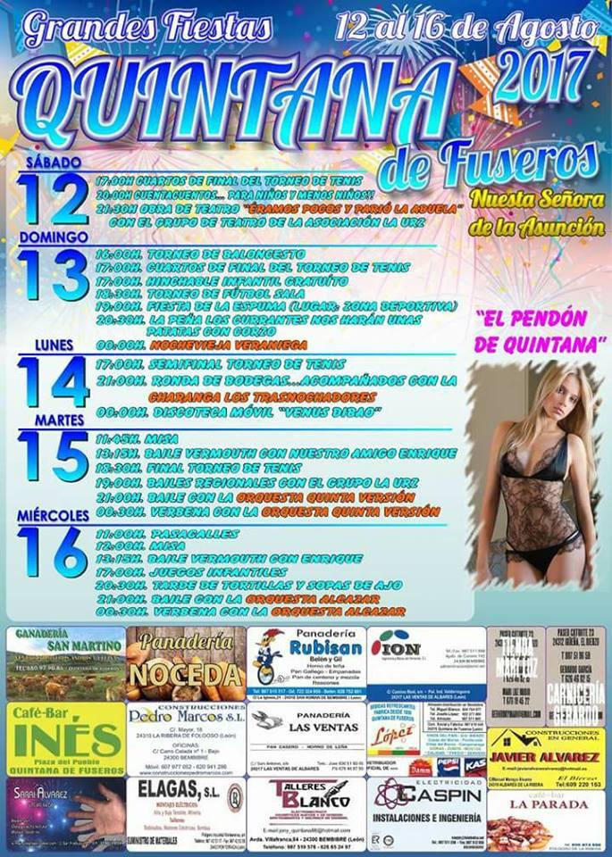 Fiestas en Quintana de Fuseros. 12, 13, 14, 15 y 16 de agosto 2017 4