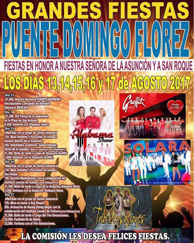 Fiestas en puente de Domingo Flórez. 13 al 17 de agosto 2017 4