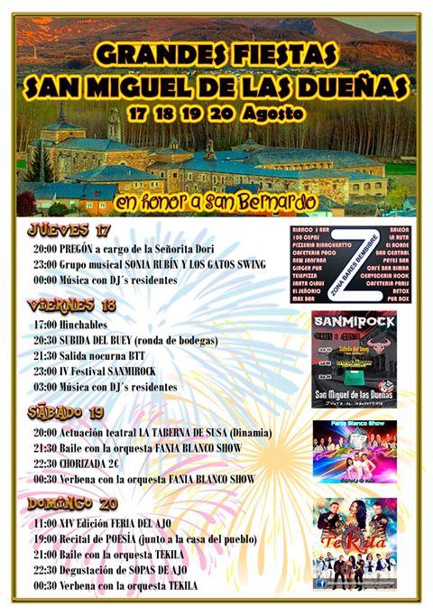 Fiestas en San Miguel de las Dueñas 2017