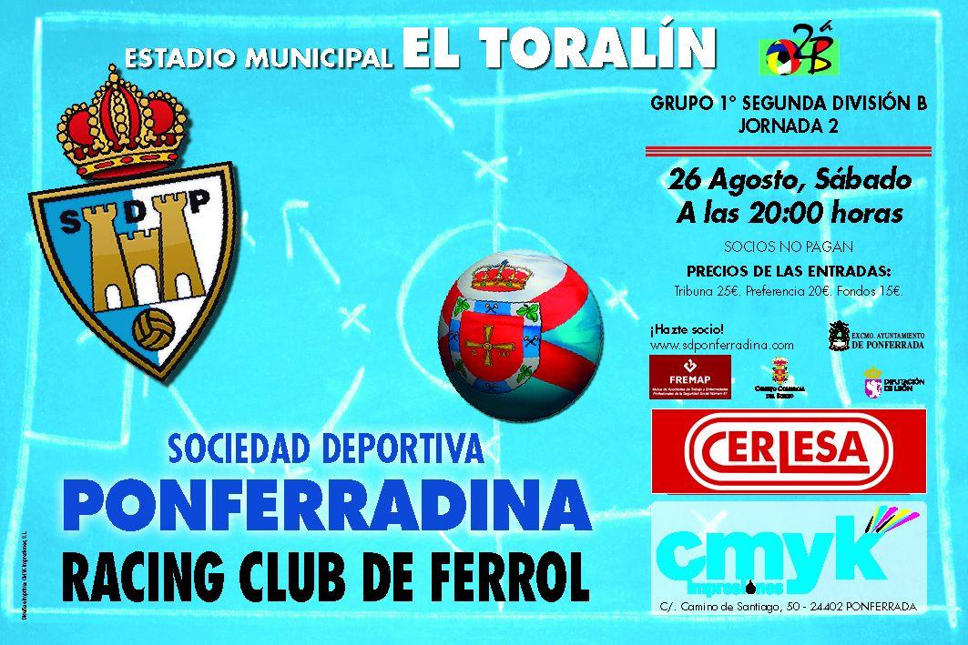 Fútbol: SD Ponferradina - Racing Club de Ferrol