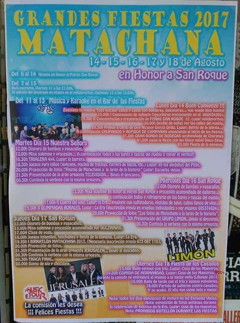 Fiestas en Matachana 2017