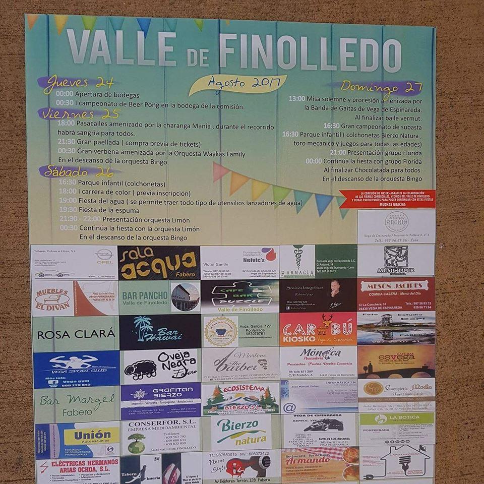 Fiestas en Valle de Finolledo. 24 al 25 agosto 2017 2