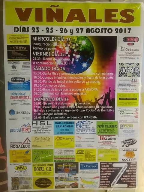 Grandes Fiestas en Viñales 2017. 23 al 27 de agosto 2