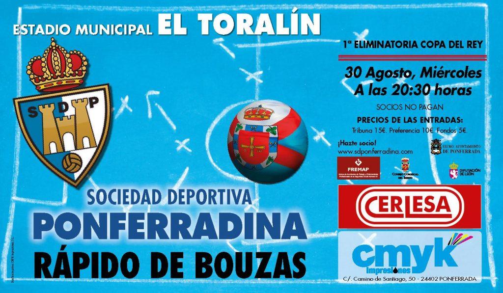 Fútbol - Copa del Rey: SD Ponferradina – Rápido de Bouzas
